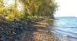 West Shore Cabins shoreline on Lake Champlain